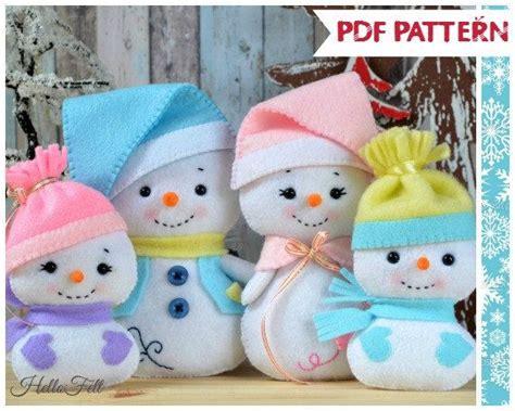 pattern for a felt snowman pdf pattern snowman and family felt doll snowman