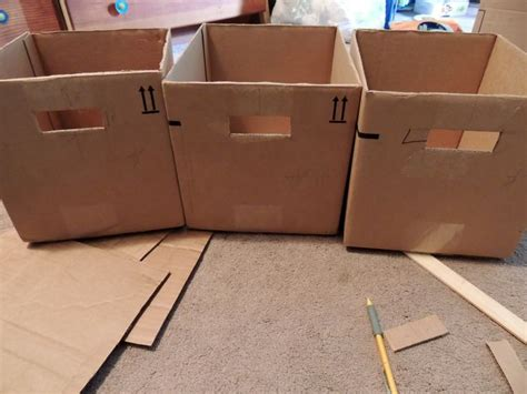 make your own fabric storage bins out of old boxes model home interior design