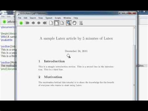 latex tutorial beginner learn latex in 5 minutes youtube