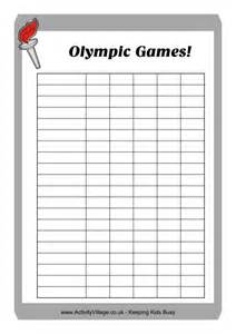 Explore activity village topics olympic games olympic printables