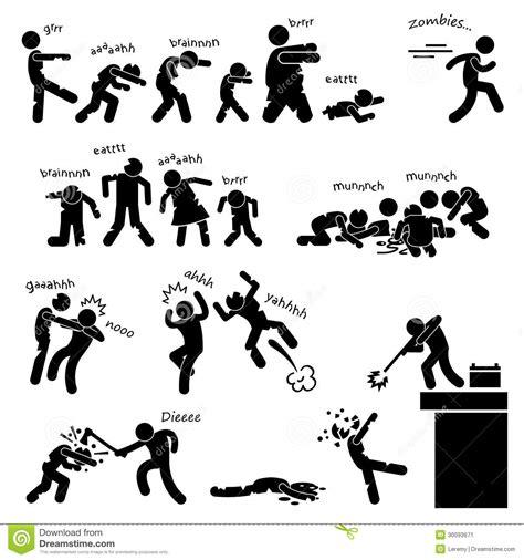 het pictogram van de aanval van undead van de zombie stock