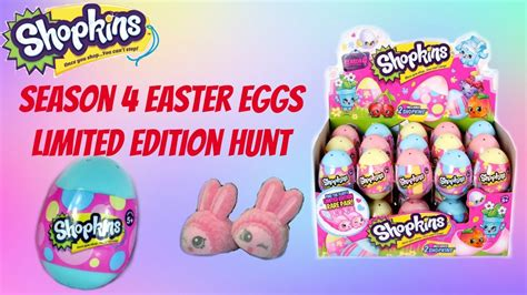 shopkins easter egg hunt books shopkins season 4 blind easter eggs limited edition bun