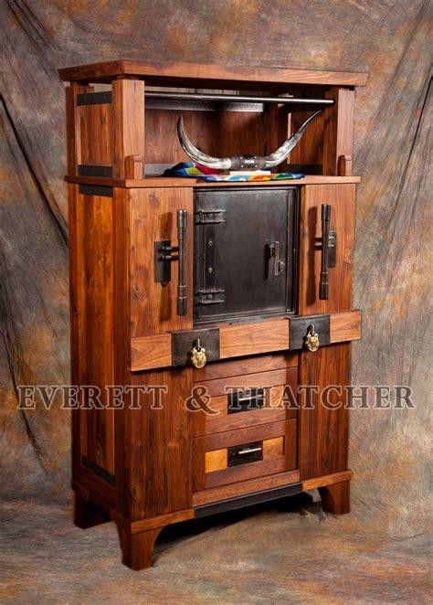 gun safe, gun cabinet, strong box, walnut, armoire