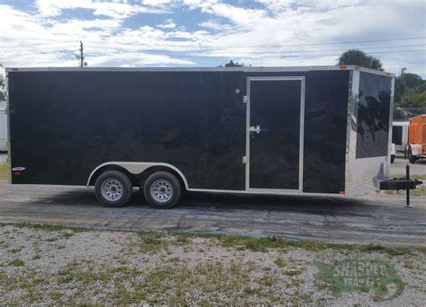ta trailer black double barn doors side door  rings snapper trailers