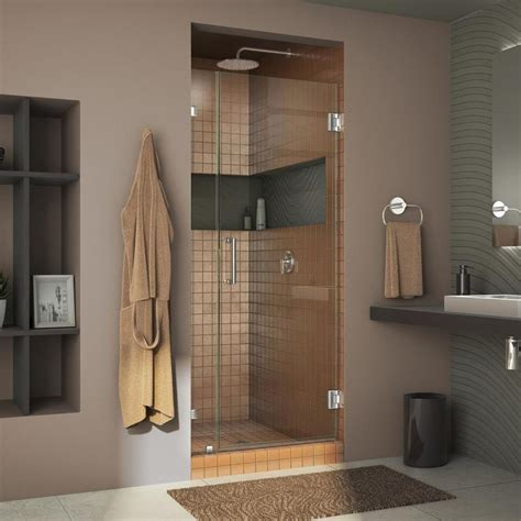 30 shower door shop dreamline unidoor 30 in to 30 in frameless chrome