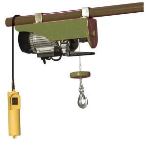 buffalo tools 440 lb electric cable hoist with wired