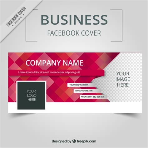 business facebook cover with squares vector free download