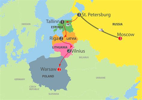 russia map states k982 the best of russia baltic warsaw 14 day
