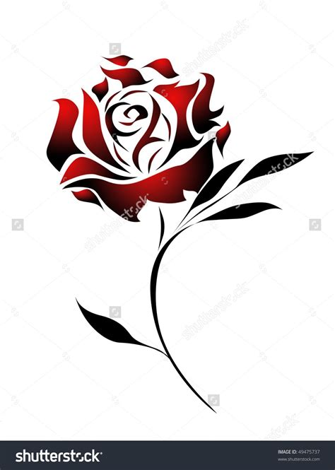 rose with tribal tattoo designs search