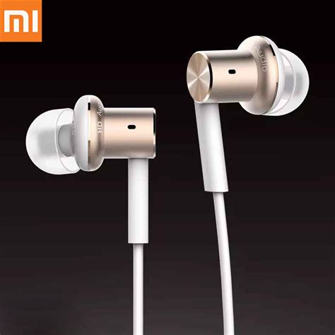 Xiaomi Mi Iv Hybrid Dual Drivers Earphones Headset In Ear Mi Piston original xiaomi mi iv hybrid earphones wired headphone