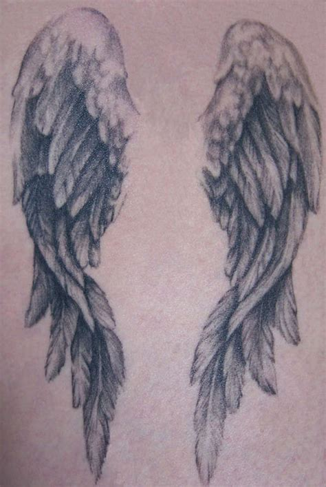 tattoo of angel wings tattoo angel wings tattoo 171 angels 171 flash tatto sets