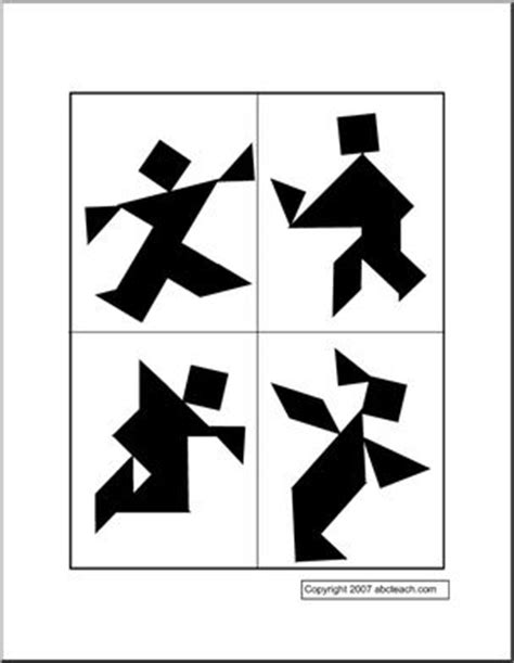 Puzzle Cards - People (2) Tangram | abcteach