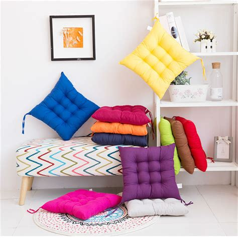 soft comfortable home office decor square cotton seat
