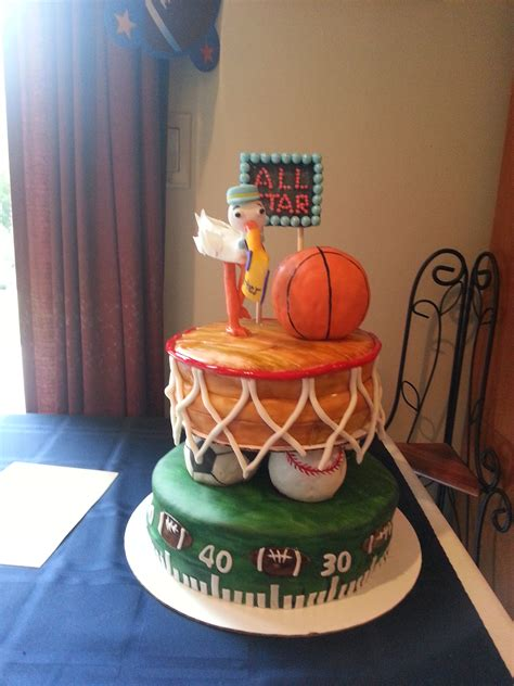 Sports Themed Baby Shower by Sports Themed Baby Shower Cake Cakecentral