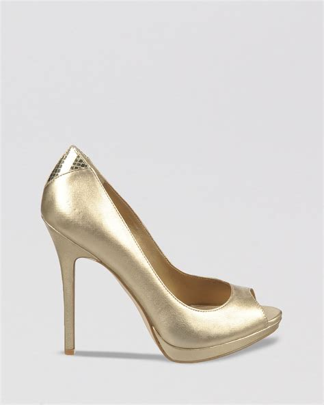 high heels gold gold open toe high heels mad heel