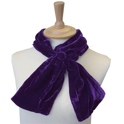 silk velvet button scarf by bags not war