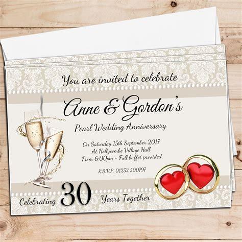 Alised Th Pearl  Ee  Wedding Ee    Ee  Anniversary Ee    Ee  Invitations Ee   N