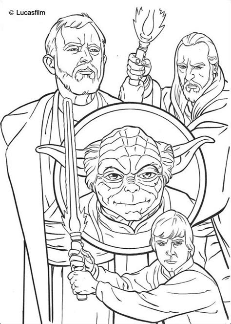jedi knights and yoda coloring pages hellokids com