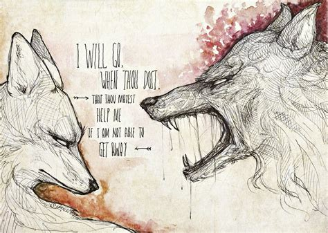 wolf and fox and wolf story
