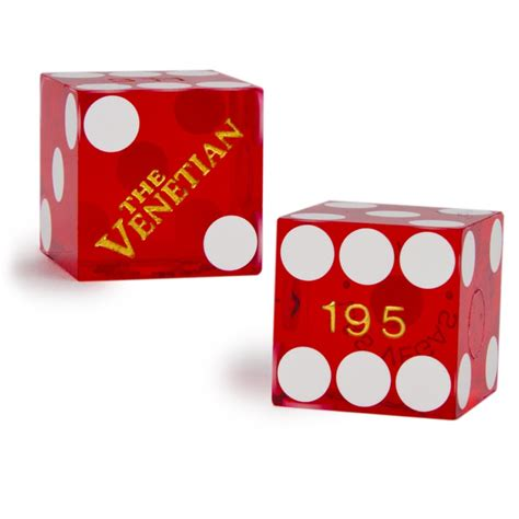 19mm Dice pair 2 of official 19mm casino dice used at the venetian