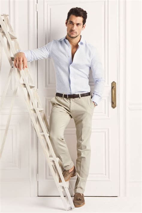 dark brown belt light brown shoes beige pants with a dark brown belt and light brown shoes