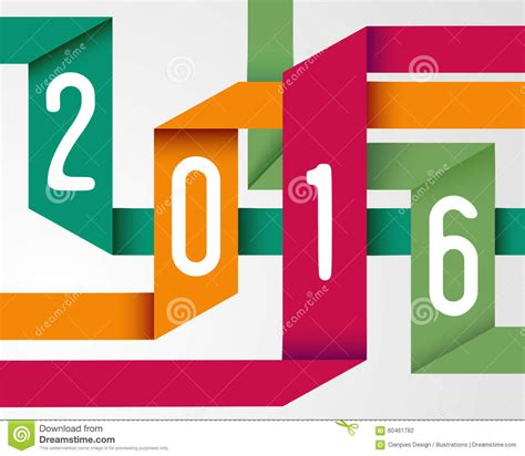 simple new year origami happy new year 2016 simple origami background stock vector