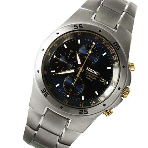 Seiko Chronograph Titanium seiko titanium chronograph snd449 snd449p1 blue