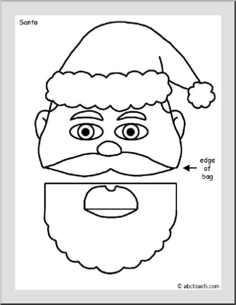paper bag puppet christmas crafts holiday arts