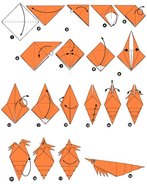 Shrimp Origami - origami of shrimp
