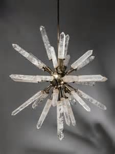 Bronze Crystal Chandelier Rock Crystal And Bronze Starburst Chandelier T3436