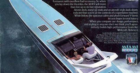 miami vice boat top speed miami vice wellcraft boat cigarette boats pinterest