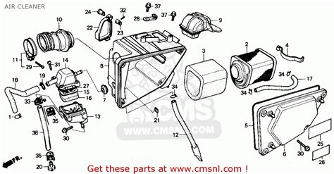 honda rebel 250 parts diagram honda cmx250c rebel 250 1985 usa air cleaner schematic