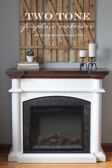 faux painted fireplace two tone fireplace makeover grows