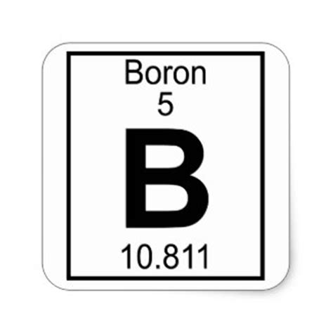 Periodic Table Square by Boron Periodic Table Square Images