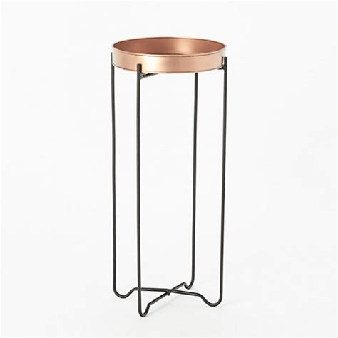plant table copper tray table terrain