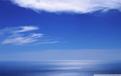 calm blue color calm ocean and blue sky 4k hd desktop wallpaper for 4k