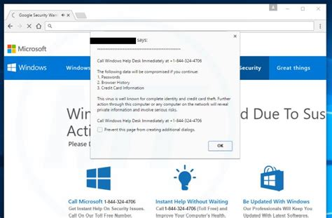 windows help desk number remove quot call windows help desk immediately quot virus support