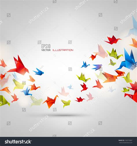 Origami Japanese Paper Folding Web Page - origami paper birdvector illustrationpolygonal shape paper