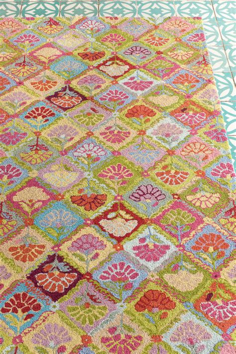 Colorful Area Rugs Colorful And Bold Floral Area Rugs Dash Albert Field