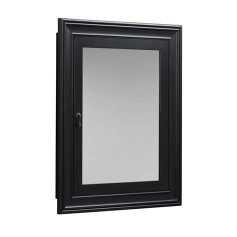 Black Medicine Cabinet Recessed   Home Design Ideas