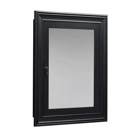 Black Medicine Cabinet Recessed   Home Design Ideas