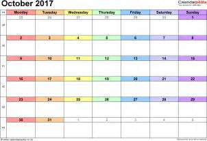 october 2017 calendar pdf schedule template free