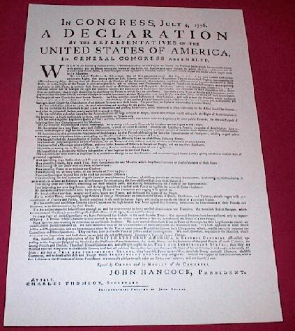 printable version of declaration of independence declaration of independence