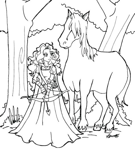 disney coloring pages merida brave merida coloring pages