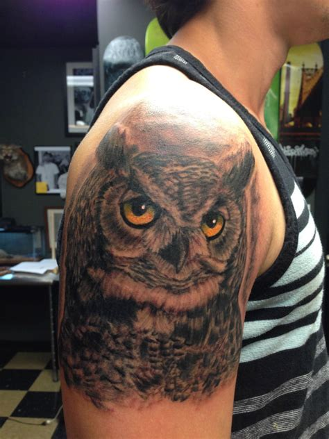 realistic owl tattoo best owl designs gallery