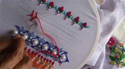hand embroidery stitches tutorial  beginners art craft ideas