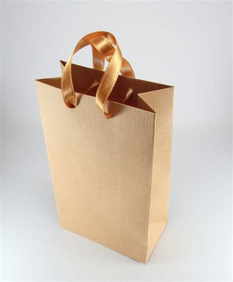 Brown Paper Craft Bags - 50 paper gift bags w handles kraft brown paper bags