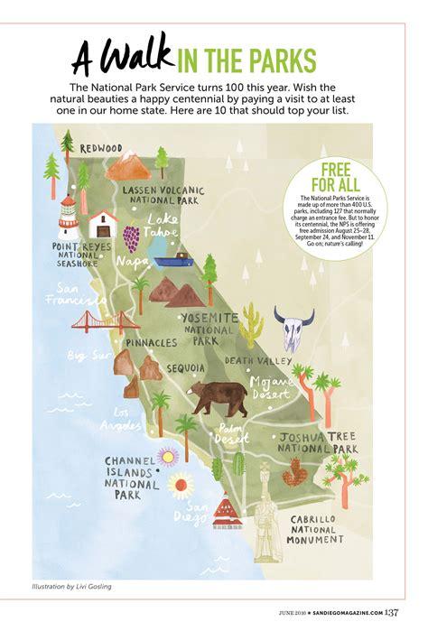 national park map usa livi gosling map of california national parks