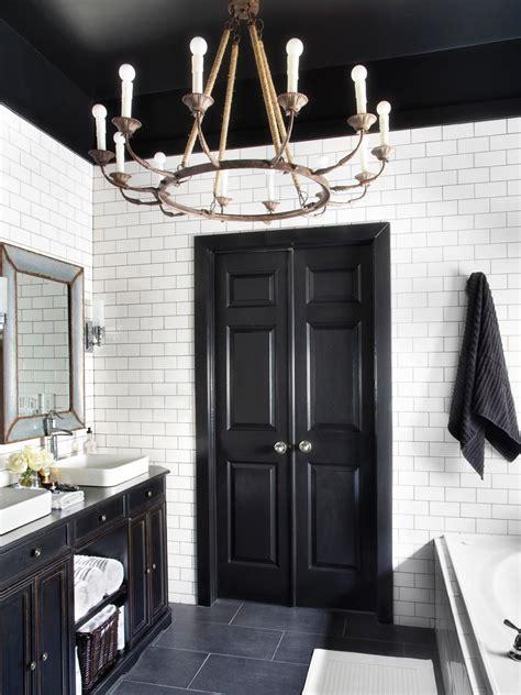 black and white bathroom decor ideas hgtv pictures hgtv bold black interior doors inspiration and tips hgtv s
