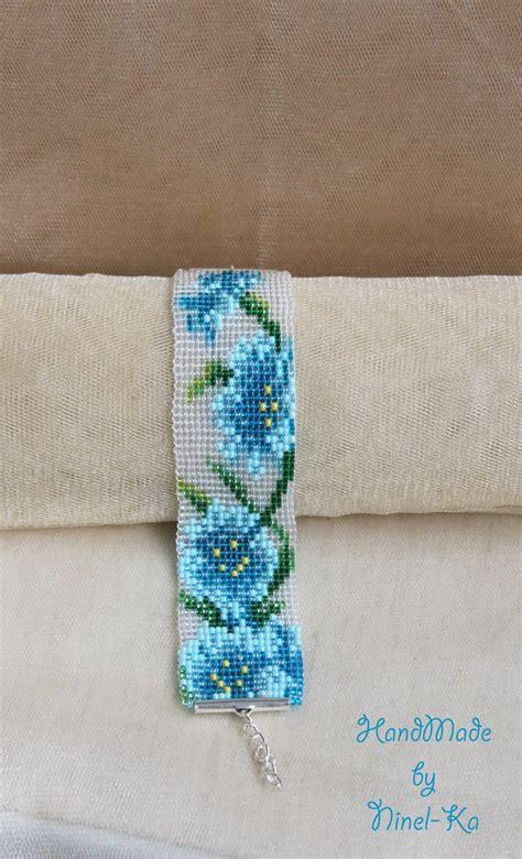 flower bead loom patterns 569 best flat beaded bracelets images on bead